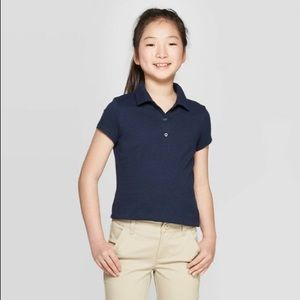 Girl's Navy Polo